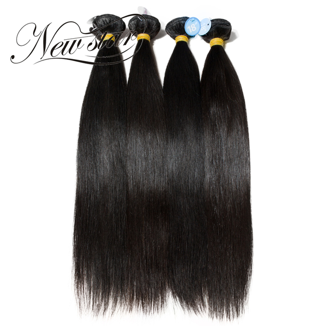 "NEW STAR 4 Bundles 10""-30"" Inches Brazilian Straight Human Virgin Hair Extension Brazilian Hair Weave Bundles"
