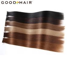 Хорошие волосы Клейкие ленты в Пряди человеческих волос для наращивания de Кабельо humano 2 г/шт. 20 штук бразильский Наращивание волос Клейкие ленты aplique прямые Человеческие волосы