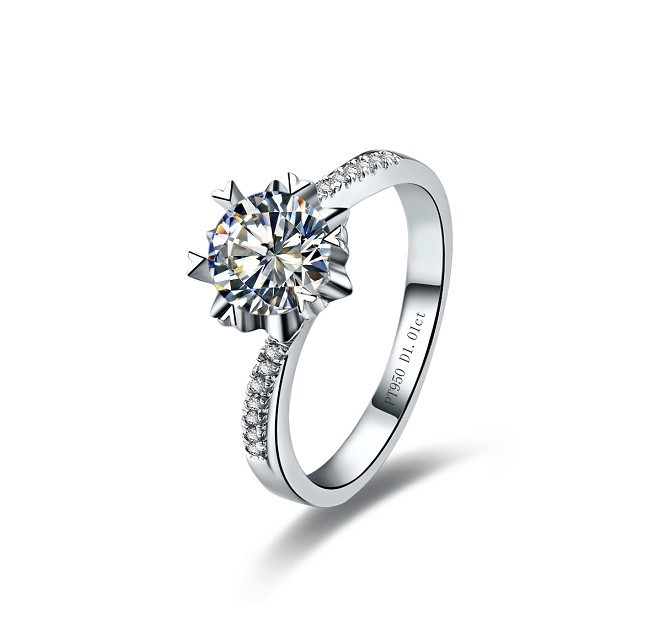 def977378e3 Sparking 0.5Ct Fine Diamond Engagement Ring Top Quality AU750 Jewelry Solid  18K White Gold Jewelry Quality Guarantee!-in Rings from Jewelry    Accessories on ...