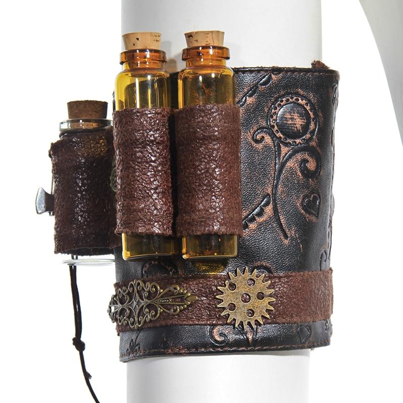 Steampunk Men Women's Vintage Arm Warmers Barcelet Gears Mini Bottle Pockets Fashion Design For Party Cosplay