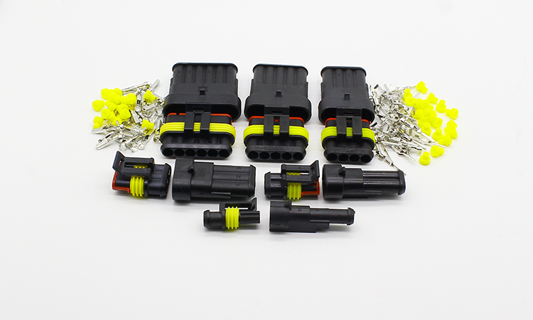 Flame retardancy way Sealed waterproof automotive Wire Connector Plug Car Motorcycle HID ...