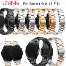 20mm Wristband for Samsung Gear S2 R732 Smart watch band Simple business strap metal stainless steel wrist strap bracelet Band stainless steel watch band for samsung gear s4 sport smart watchband 20mm metal strap belt wrist loop bracelet black blue silver