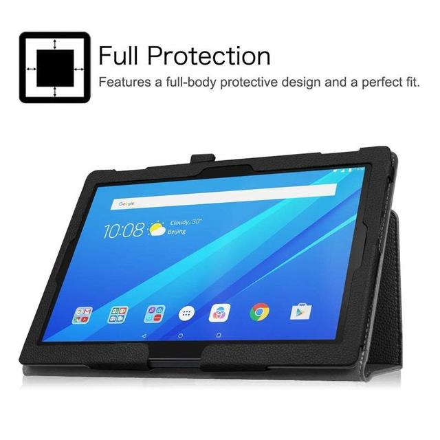 "Case for Lenovo Tab 4 10 TB-X304F X304L X304 PU Leather Tablet Cover Stand Capa for Lenovo TAB4 10.1"" Plus TB-X704F/L Flip Cover 5"