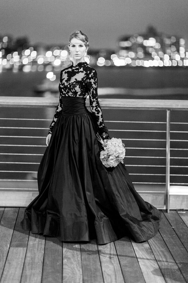 Popular black lace wedding gown buy cheap black lace for Black lace wedding dresses