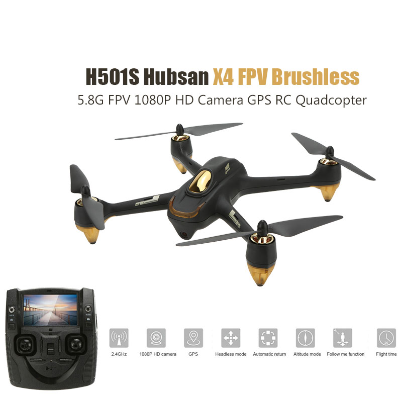 Hubsan H501S H501SS X4 Pro RC Quadcopter 5.8G FPV Brushless Drone With 1080P HD Camera GPS RTF Follow Me Mode Helicopter lipo battery 7 4v 2700mah 10c 5pcs batteies with cable for charger hubsan h501s h501c x4 rc quadcopter airplane drone spare