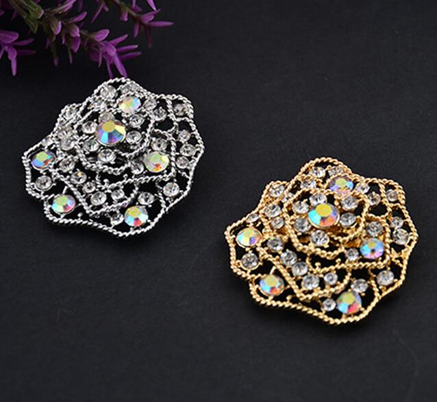 brooch jewelry pin fashion qualified shawl flower shaped fix safety brooch scarf pin high 2 colors 10pc/lot