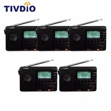 5pcs TIVDIO V-115 FM/AM/SW Radio Multiband Radio Receiver MP3 Player REC Recorder Portable Radio with Sleep Timer F9205A