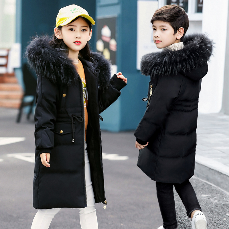 2018 New Fashion Girls Parkas Jacket Baby Girls Clothes Warm Thicken Winter Hooded Coat Natural Fur Outerwear Infant Costume 12 2015 new hot winter thicken warm woman down jacket coat parkas outerwear hooded splice mid long plus size 3xxxl luxury cold