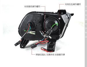 Image 2 - TaiWan gemacht! Auto stoßstange kopf lampe für 2010 ~ 2014yearFord Mustang scheinwerfer DRL auto zubehör kopf licht für Mustang front licht