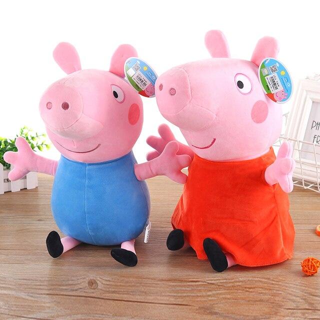 19 CENTÍMETROS Pink Pig Peppa Pig Brinquedos De Pelúcia De Alta Qualidade Venda Quente Macio Stuffed Boneca Animal Dos Desenhos Animados para Crianças festa de família