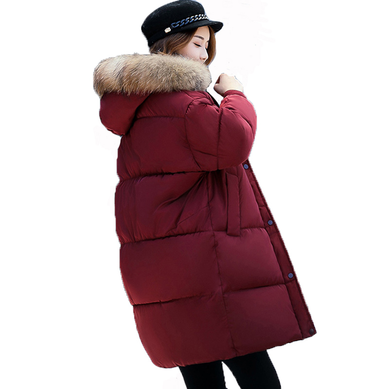 New Winter Coat Women 2017 Thick Warm Winter Loose Jackets Female Fur Collar Hooded Long Parka Coat Plus Size Outerwear FP0079 plus size winter jacket parka women long coat big hooded fur collar loose female clothes thick warm woman jackets ladies coats