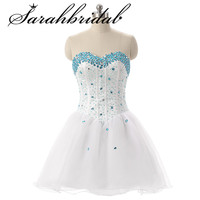 Sweetheart Homecoming Dresses Formal 2019 Crystal Lace Up Prom Cocktail Dress Party Graduation Gown SD094