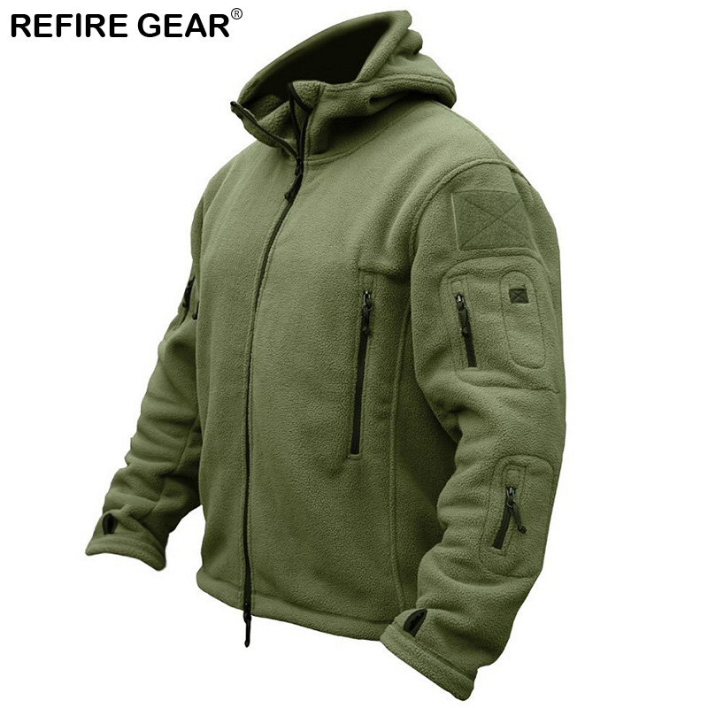 Winter Outdoor Hiking Fleece Jacket Men Warm Polar Clothes Multiple Pocket Jacket Outerw ...