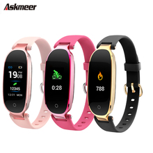 ASKMEER Smart Wristband Color Screen smart bracelet Sport Tracker heart rate monitor watch Call Reminder band