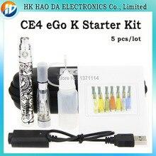 5 шт./лот CE4 ЭГО K электронные сигареты ego K 1100 мАч батареи CE4 электронная сигарета испаритель EGO Короля электронная сигарета комплект