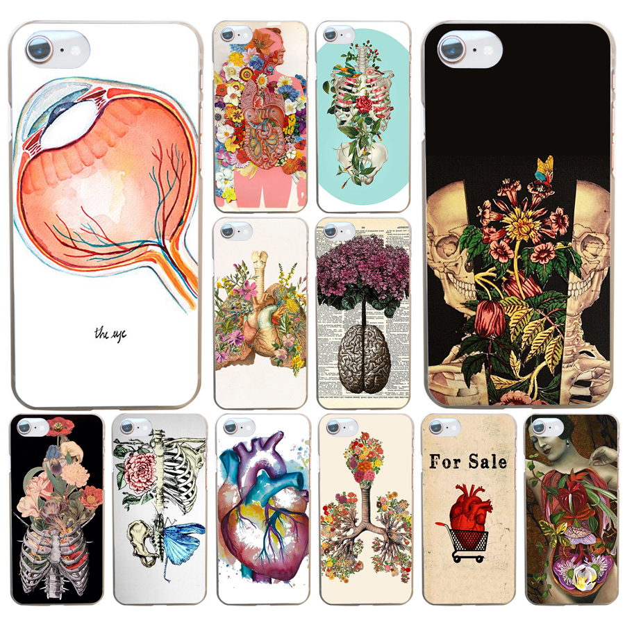 81df Designs Human Anatomy Hard Transparent Cover Case For Iphone 4