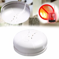 LESHP Photoelectric Smoke Alarm Detector Home Security Alarm System Fire Protection Battery Powered Dual Sensor Alarm