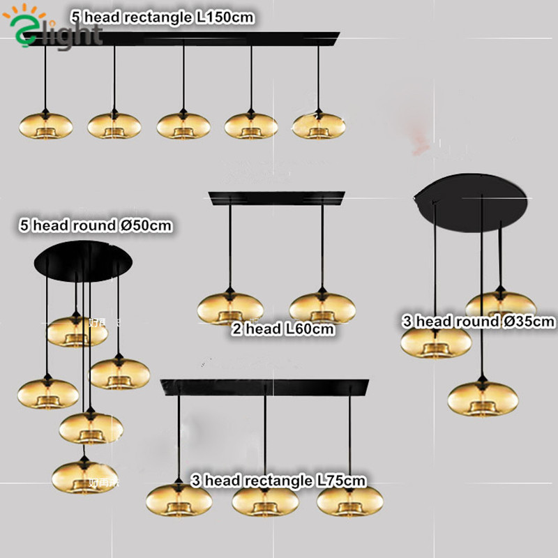 ФОТО Italy Famous Led Plated Colorful Glass Pendant Chandelier With Edison Bulbs Glass Hanging Light