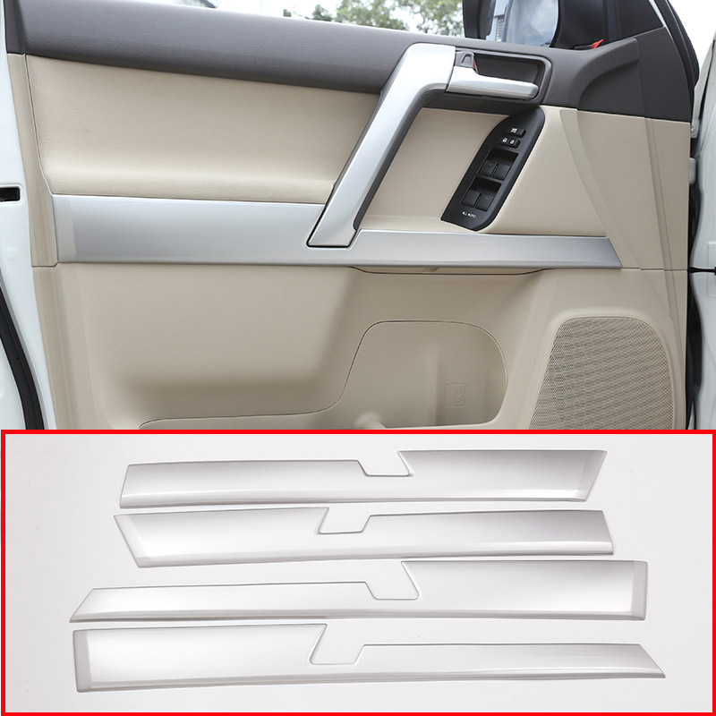 4pcs Car ABS Interior Door Decoration Panel Trim For Toyota Land Cruiser Prado FJ150 150 2010-2018 Year Accessories стоимость