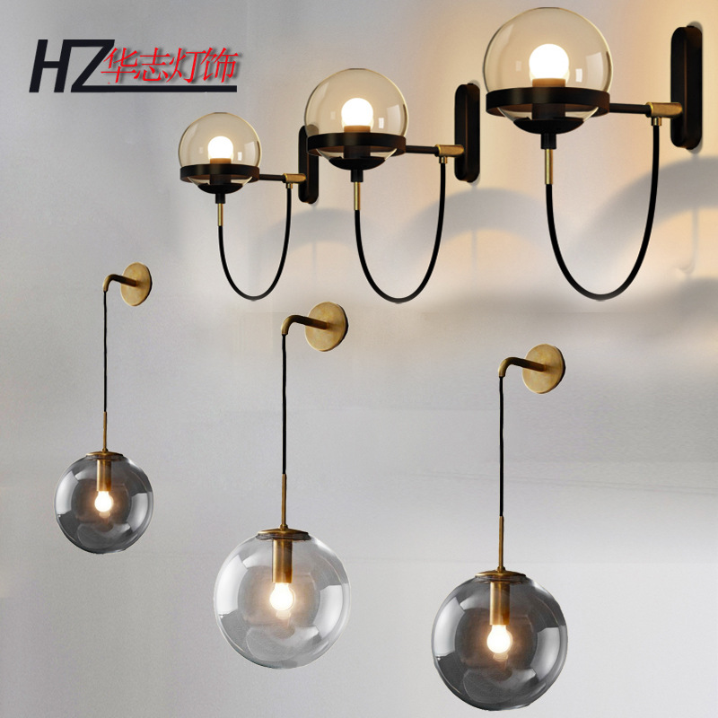 ball glass wall lamp personality atmosphere wall lamp hotel corridor lamps and lanterns of bedroom the head of a bedball glass wall lamp personality atmosphere wall lamp hotel corridor lamps and lanterns of bedroom the head of a bed