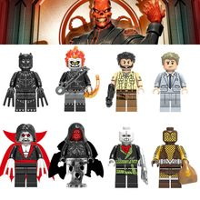 Red Skull legoingly Super Heroes Ulysses Klaw Ghost Rider Iron Man Building Blocks Action Figures Toys Gifts Children legoed(China)