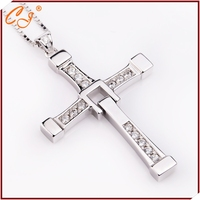 925 Sterling Silver Fast And Furious Necklace Around 27g 42 8 64MM Silver Cross Necklace