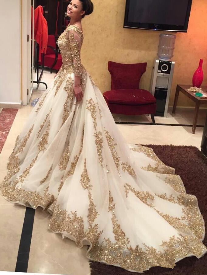 Aliexpress Com Buy 2016 Ball Gown Long Sleeve Prom