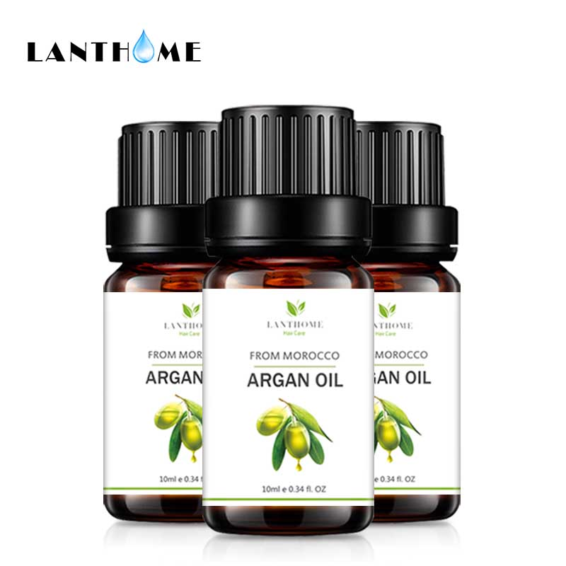 100% Pure Argan Oil for Hair Care Hair Scalp Treatments Frizzy Damage Lustrous Keratin Repair Hair Mask Leave In Conditioner