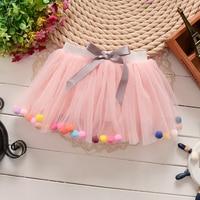 2017 Summer Girls Tutu Skirt Fluffy Rainbow Tutu Baby Birthday Party Wear Ballet Skirt Dance Tutu