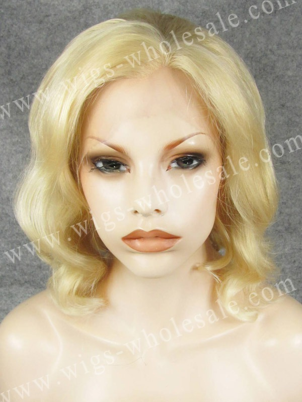 ФОТО CWN20C613 synthetic lace front wigs short curly blonde celebrity cosplay lace wig