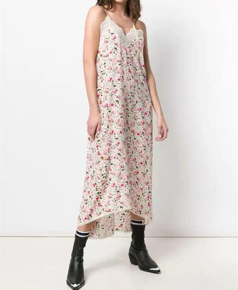 女性のドレス夏 2019 新しいレースピンクのセクシーなスパゲッティストラップ  グループ上の レディース衣服 からの ドレス の中 1