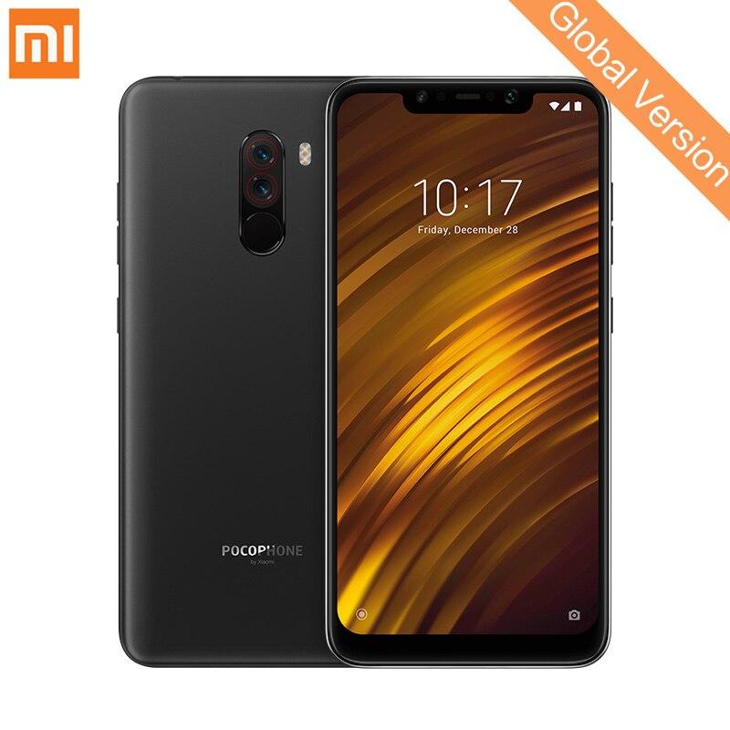 Mondial Version Xiaomi POCOPHONE F1 6 gb 64 gb Mobile Téléphone Snapdragon 845 Octa Core 6.18 2246x1080 FHD AI Double Caméra 4000 mah