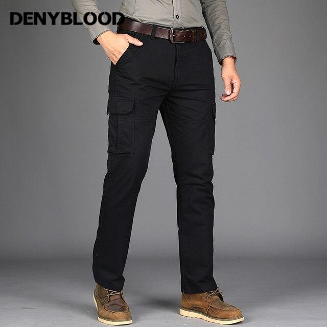 Denyblood Jeans Para Hombre Pantalones Cargo Multiples