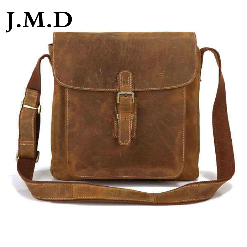 J.M.D 2017 New High Quality 100% Real Cow Leather Bag  Sling Bag For Men Messenger Shoulder Bags Cross Body Bags  Handbags 7111
