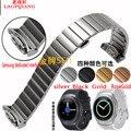 R720 laopijiang samsung gear s2 sport watch com alça de aço inoxidável inteligente