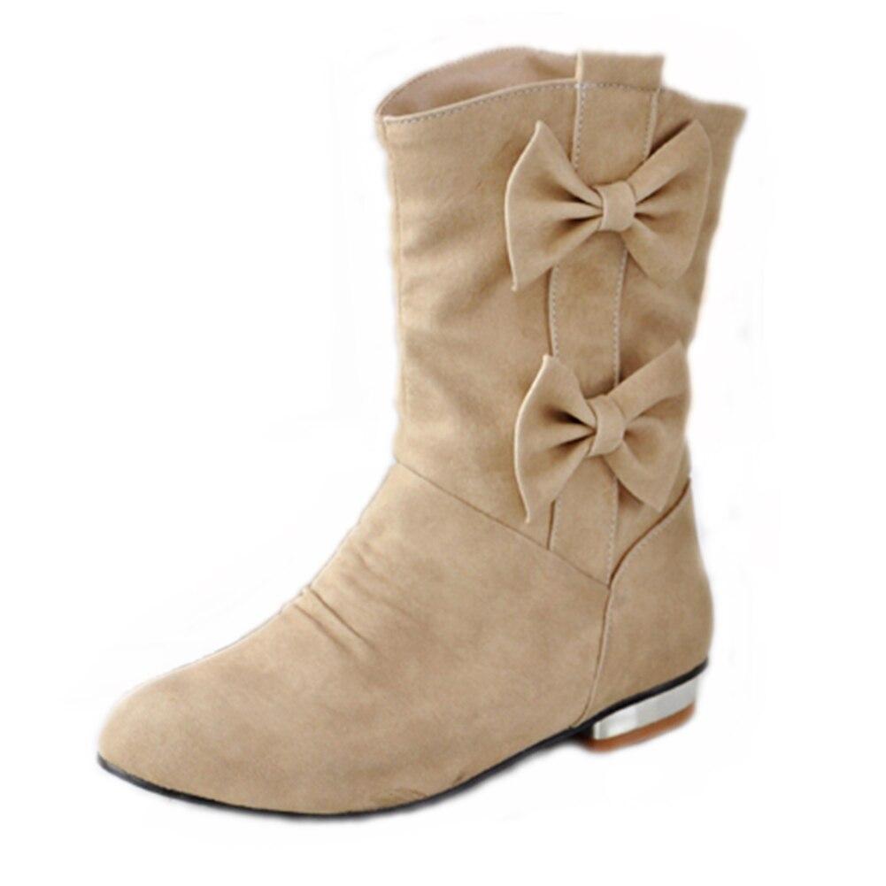 3710a38c37ae2 ... Femme Add Gros Bas Femmes Papillon Fur Sarairis Hiver beige Without  Bottes Fur gray Chaussures balck ...