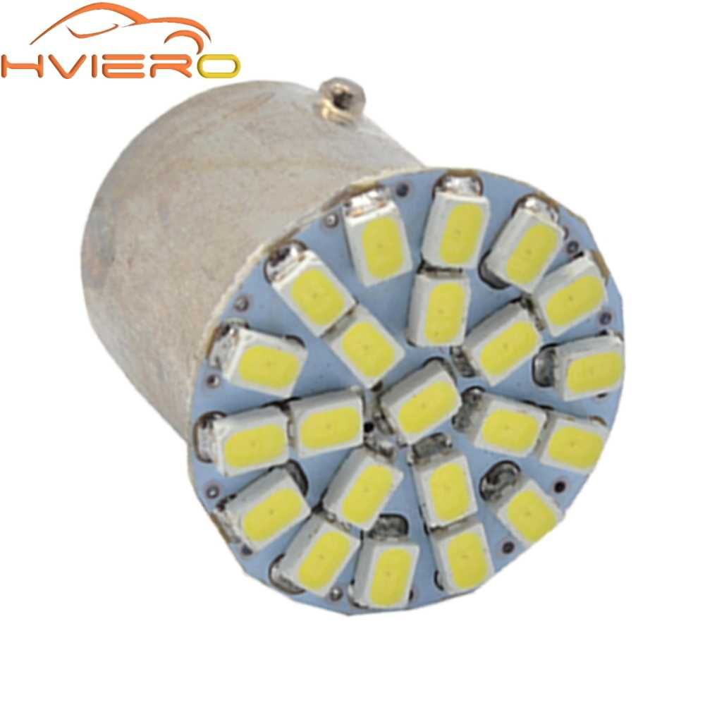 P21W White 1157 BAY15D 1156 BA15S 1206 22SMD Car LED Brake Turn Light Auto Front Parking Lamp Backup Wedge Lamp Tail Bulb DC 12V