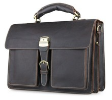 7164Q Hot Sell Genuine Leather Mens Business Handbag Briefcases JMD Travel Bags