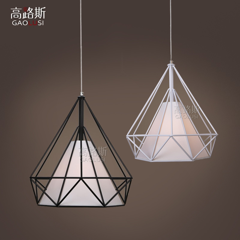 ФОТО Simple modern Iron Cord Pendant Light American Country Style Hanging Lamp Loft  Drop light Cafe Restaurant Table Pendants