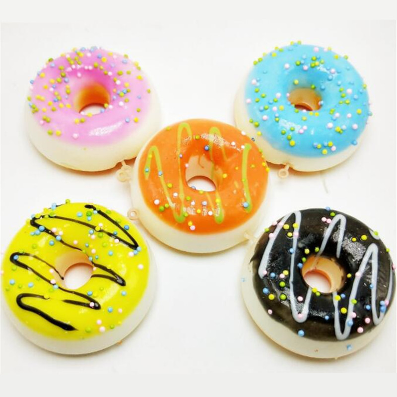 14CM Squishy Bread Donut Squishies Slow Rising Soft Squeeze Stuffed Squishy Toys Phone Decor Charms Mobile Phone Straps