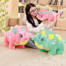 New Cartoon Dinosaur Plush Toys Cartoon Triceratops Soft Doll Toy Animal Toys For Children Boys Baby Birthday Christmas Gift цена и фото