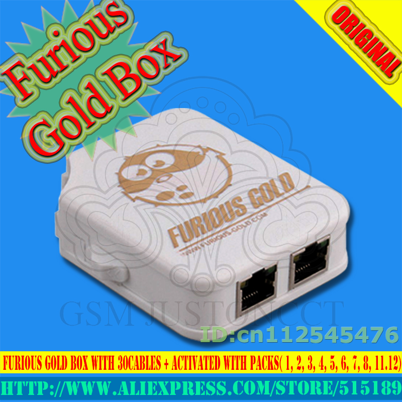 2018 Version The Newest Original New Furious Gold Box Full Activated With Packs(1, 2, 3, 4, 5, 6, 7.8, 11 12) +Full 30 Cable Set