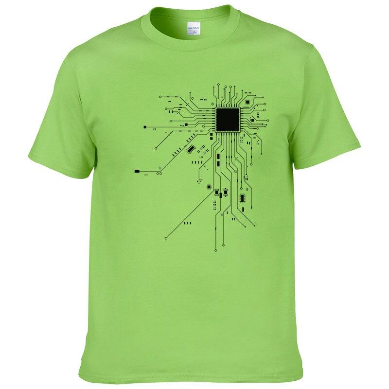Computer CPU Core Heart T-Shirt Men's GEEK Nerd Freak Hacker PC Gamer Tee Summer Short Sleeve Cotton T Shirt Euro Size #303 6