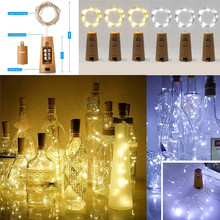 2M 20pcs LED Garland Copper Wire Corker String Fairy Lights