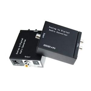 Image 4 - Аналоговый цифровой аудио преобразователь SGEYR ADC аналоговый RCA L/R 3,5 мм на SPDIF коаксиальный аудио преобразователь с входом 3,5 мм