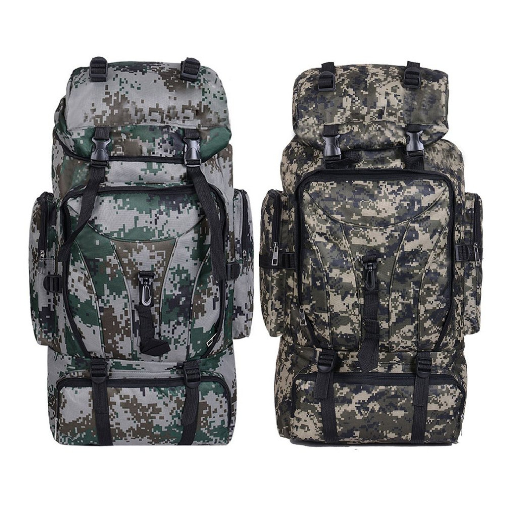 2 Colors 70L Men Camping Waterproof Travel Military Army <font><b>Bags</b></font> <font><b>Outdoor</b></font> Sport Molle Tactical Rucksacks Camouflage Hiking Backpacks