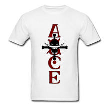 We Zijn Piraat T-shirt Ace Mannen Tshirt Herten Chopper Print T-shirt Ace Schedel Brief Tee Luffy Kapitein tops Custom Shop(China)