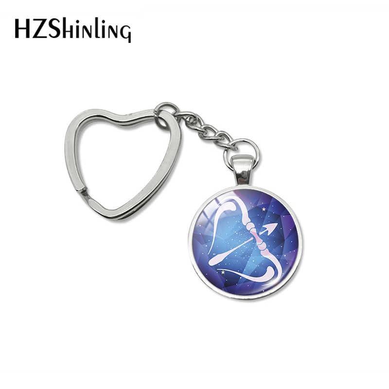 2019 nova chegada 12 zodíaco câncer peixes virgo coração chaveiros sinal do zodíaco horóscopo chaveiros titular saco de moda