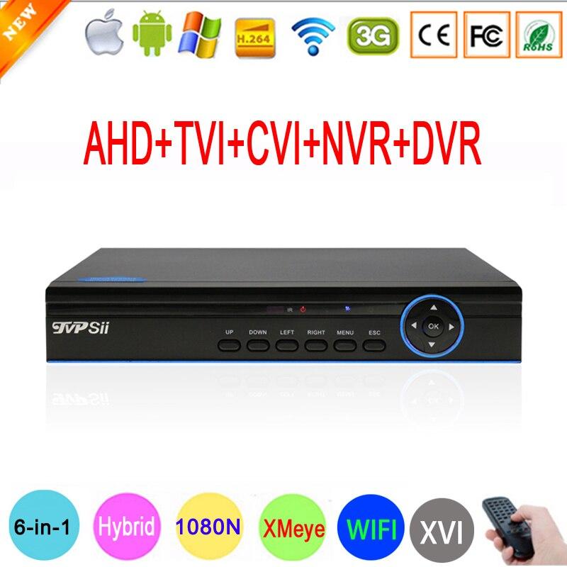 Hi3521A Blue-Ray 16 Channel 16CH 1080P/960P/720P/960H 5 in 1 Coaxial Hybrid CVI TVI NVR AHD DVR Surveillance Video Recorder