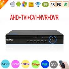 1080P,960P,720P,960H CCTV Camera XMeye Hi3521A 16 Channel 16CH 6 in 1 Coaxial Hybrid XVI 1080N CVI TVI NVR AHD DVR Free Shipping
